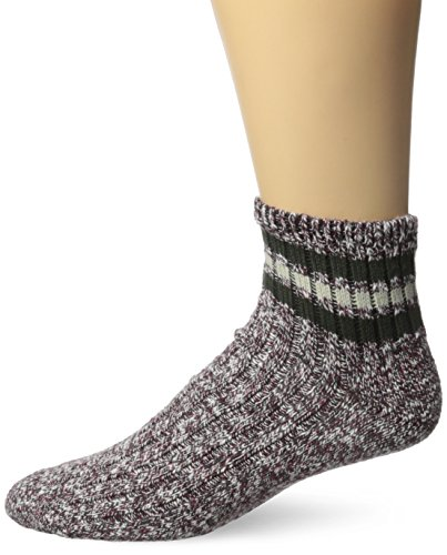Classics Textured Charcoal (Wigwam Men's Mar-Lee Classic Ragg Textured Quarter Sock,Rouge/Charcoal,Large/shoe Size:Men's 9-12,Women's 10-13)