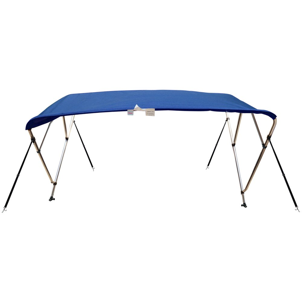Naviskin Pacific Blue 4 Bow 8'L x 54'' H x 73''-78'' W Bimini Top Cover Includes Mounting Hardwares,Storage Boot with 1 Inch Aluminum Frame by Naviskin