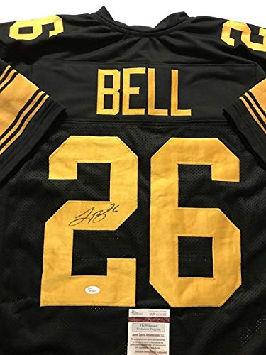 Autographed/Signed Le'Veon LeVeon Bell Pittsburgh Steelers Color Rush Jersey JSA COA (Pittsburgh Steelers Autographed Jersey)