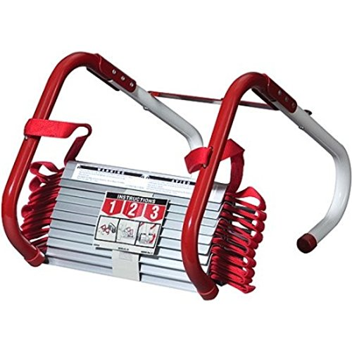 Kiddle Emergency Fire Escape Ladder 13 and 25 Foot Available (3 Story-25 (Stairway Plant Stand)