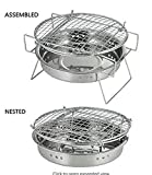 Image of BonNoces Japanese Portable Charcoal Grill-Original Folding Charcoal BBQ Grill - for camping, backpacking, picnics(Large)