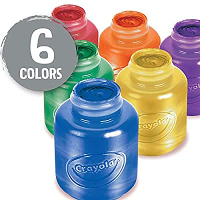 Crayola Washable Metallic Paint Set, 2-Ounce, 6 Count: Toys & Games