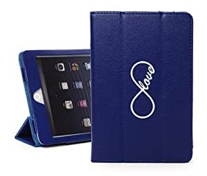 Apple iPad Mini Blue Faux Leather Magnetic Smart Case by icecream design