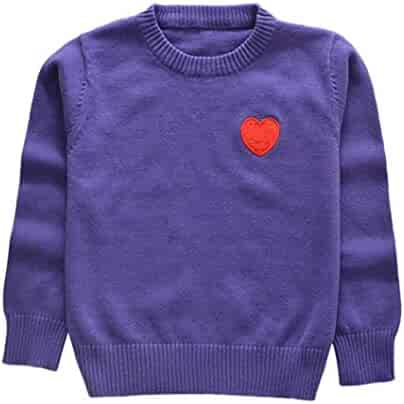 c51968b0a Palarn Toddler Sweaters, Unisex Baby Knitted Red Heart Print Sewing Tops,  12M-5T