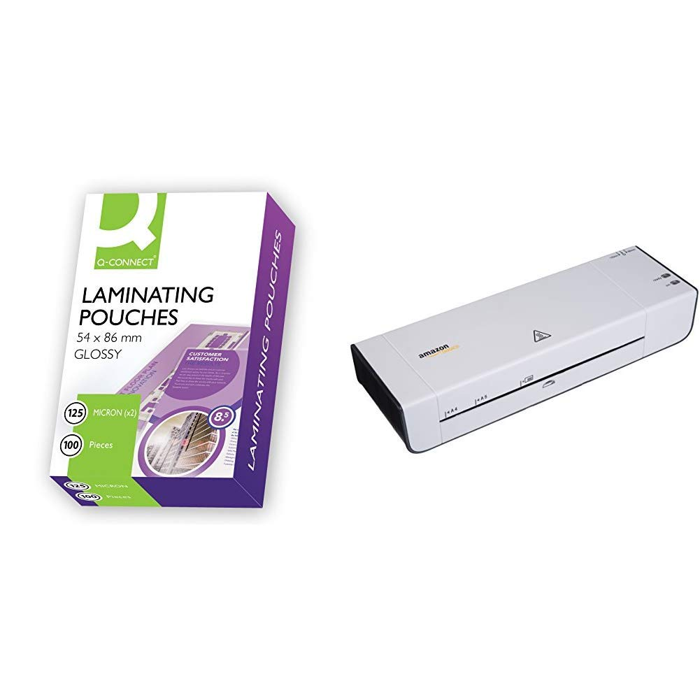 100 ID CARD SIZE 54mm x 86mm GLOSS BUSINESS CARD LAMINATING POUCHES KF01203