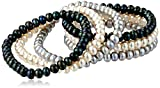 TARA Pearls Dyed Multi-Color Freshwater Cultured Pearl Stretch Bracelet, 6.5-7mm, 3in