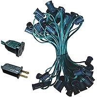 C9 Light Strand Spt-1 50ft Green Wire C9 Christmas Light Stringer by EZLS