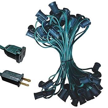 C7 Light Strand Spt-2 50ft Green Wire C7 Christmas Light Stringer