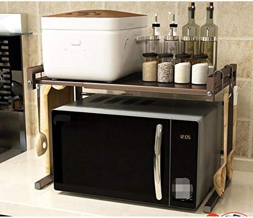 キッチンラック 棚 収納ラック ホーム電子レンジ、オーブン、ストレージラック伸縮式多層省スペースストーブのカウンターラック (Color : 04, Size : One size)