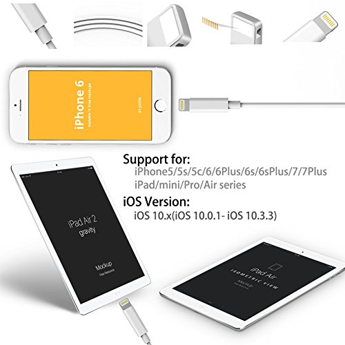 Lightning to RJ45 Ethernet LAN Wired Network Adapter-Overseas Travel Compact for iPhone iPad by FindUWill (Image #2)