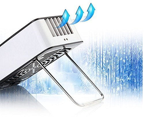 Wooboo Mini Cooli 5th generation Mini Portable USB Rechargeable HandHeld Air Conditioner Summer Cooler Fan,Batteries Powered No Leaf Fan COMINHKPR130091