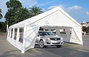 Mcombo 20'x26' Heavy Duty Carport Car Shelter Tent Wedding Party Tent Canopy White 2026