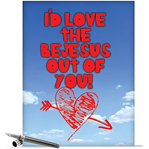J2165 Jumbo Funny Valentine's Day Card: Love the Be With Envelope (Extra Large Version: 8.5 x 11) Sales