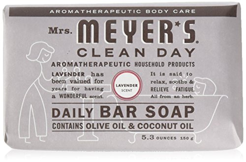 Mrs Meyers Bar Soap Hard 5.3oz Lavender Scent, 12 Count