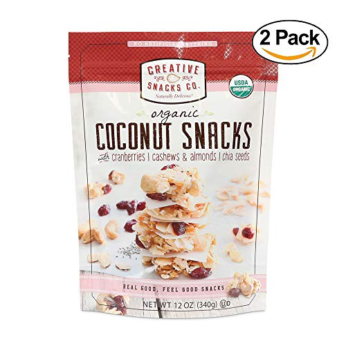 Creative Snacks Naturally Delicious Organic Coconut Snacks with Cranberries and Nuts, 2 Pack, 12 Ounce Resealable Bags by Creative Snacks (Image #7)