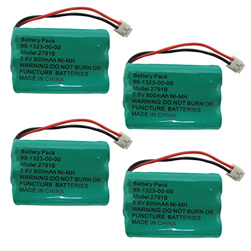 4x Cordless Home Phone Battery Pack For V-Tech ER-P510 89-1323-00-00 Model 27910 (Battery Pack 89 1323 00 00 Model 27910)