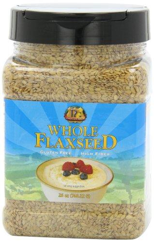 Premium Gold entier graines de lin, 26 Jars Ounce (pack de 4)