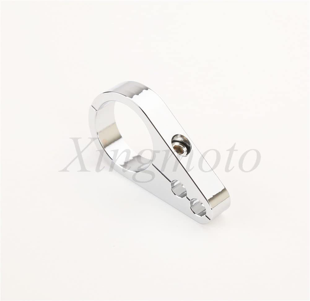1 1//4 Chrome Brake Clutch Alloy Cable Part Clamp Clip Bar For Harley Davidson NBX