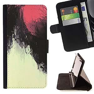 Momo Phone Case / Flip Funda de Cuero Case Cover - Cielo rojo magma bajo el agua - Samsung Galaxy Core Prime