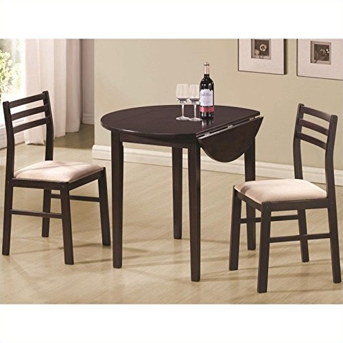 Coaster 3 Piece Dining Set (Small Space Kitchen Table Set)