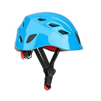 1 x Casco De Seguridad Cascos De Escalada Kayak Rapel Protector De Rescate - Azul