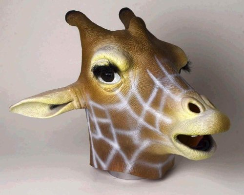 Halloween Masks For Sale (Giraffe Mask : Deluxe Latex Animal Mask)