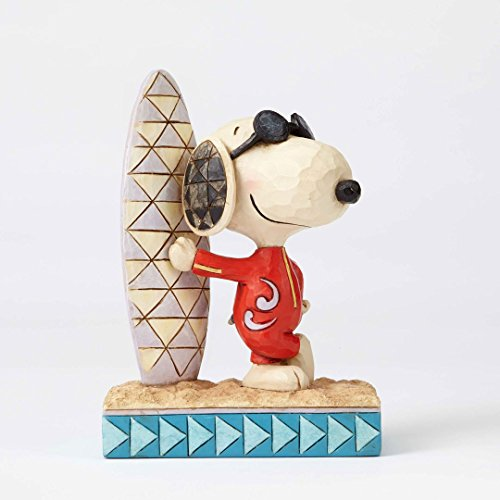 Peanuts by Jim Shore Joe Cool Snoopy with Surfboard