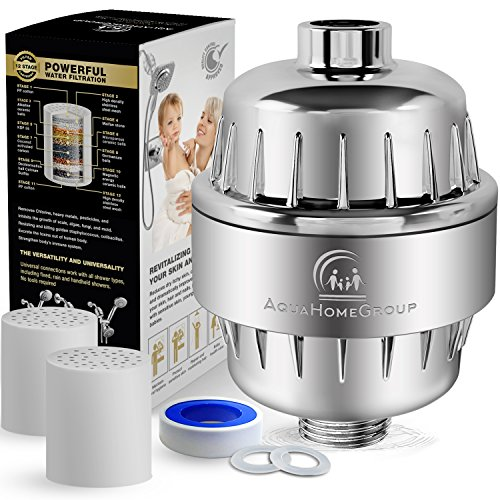 Buy Bargain AquaHomeGroup 12 Stage Shower Water Filter - 2 Cartridge Included - Removes Chlorine, Im...
