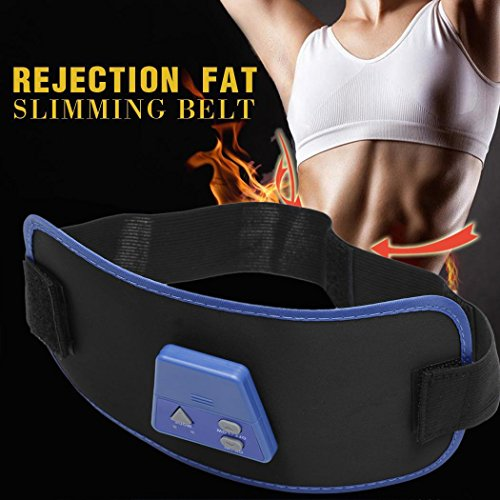 Kaimu Electronic Muscle Arm Leg Waist Tummy Abdominal Massager Slimming Body Buliding Toning Belt with Gel Home Gyms
