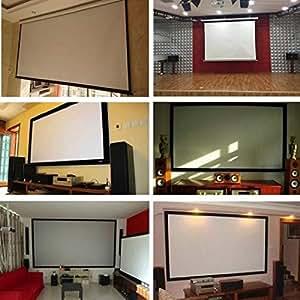 Amazon.com: TelDen 4:3 HD pantalla de proyector, pantalla de ...