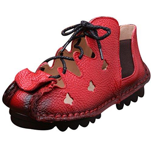 Nuove Basso Art Scarpe Donna 4 Vogstyle Sandali Rot Tacco Casuali Rosso Ix545HBwq