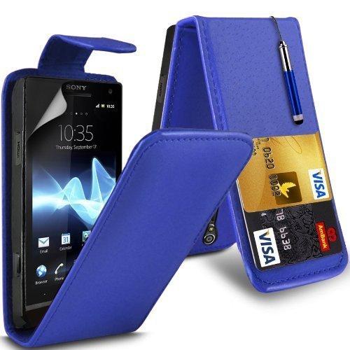 Sony Xperia S Lt26i Leather Flip Case Cover (Azul) Plus de regalo libre, Protector de pantalla y un lápiz óptico, Solicitar ahora mejor caja del teléfono Valorado en Amazon! By FinestPhoneCases