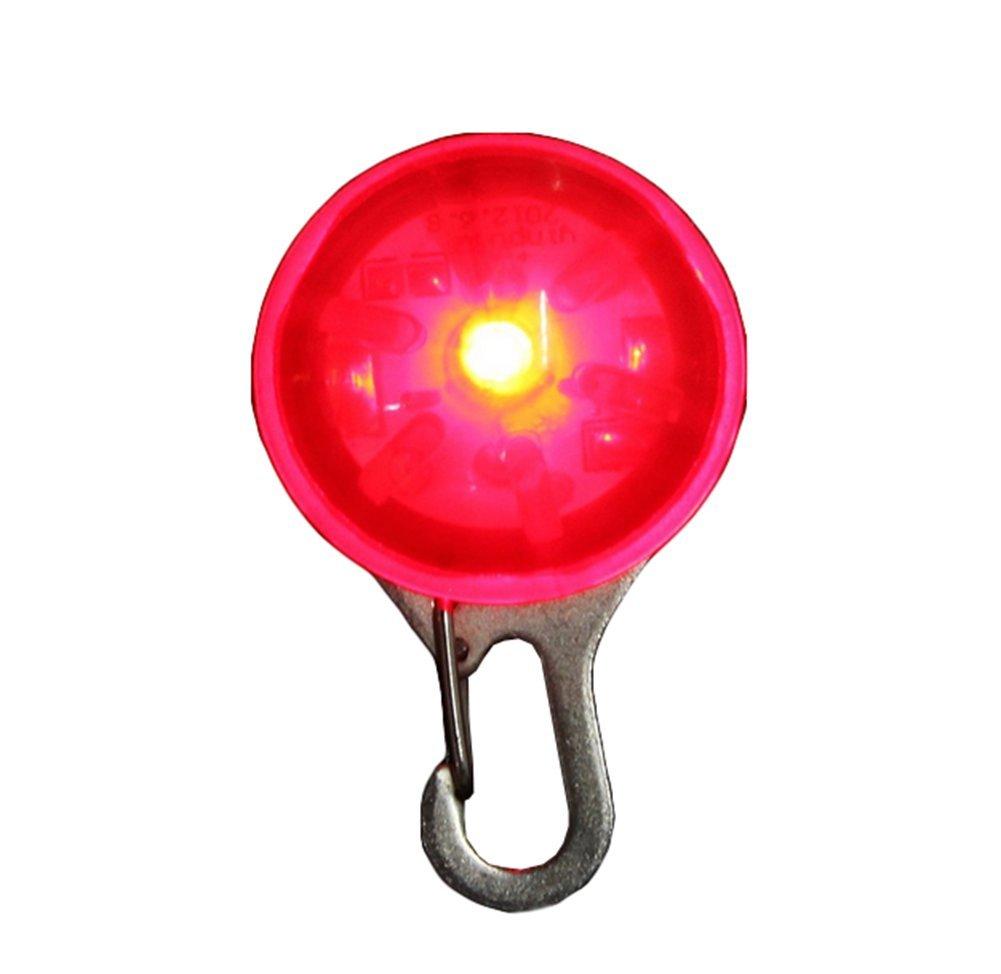 Demarkt Médaille LED Lumineux Pendentif de Collier pour Chien Chat 5 Couleur Au Choix- Orange