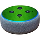 MightySkins Skin for Amazon Echo Dot (3rd Gen) - Lime Carbon Fiber | Protective, Durable, and Unique Vinyl Decal wrap Cover | Easy to Apply, Remove, and Change Styles | Made in The USA