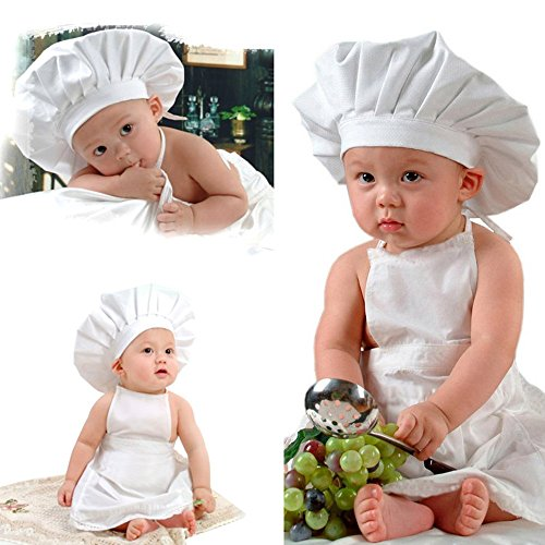 Dealzip Inc Cute Cook Hat Apron Set Baby Costume Outfit Photography Prop -
