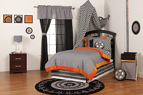 One Grace Place Teyo's Tires Twin Set, Black/White/Grey/Orange by One Grace Place
