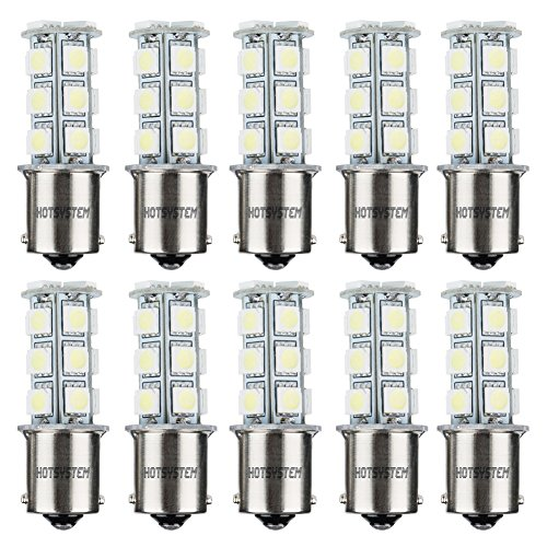HOTSYSTEM 1156 7506 1003 1141 LED SMD 18 LED Bulbs Interior RV Camper Cool White - Gold Curtain Welding