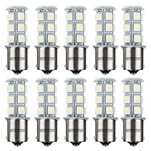 HOTSYSTEM 1156 7506 1003 1141 LED SMD 18 LED Bulbs Interior RV Camper Cool White 10-pack