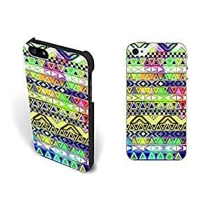 Bright Colors Aztec Design Iphone 5 Case Cover Hipster Tribal Geometric Triangle Iphone 5s Case Skin for Girls