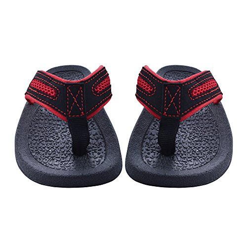 Kids Thongs (Skysole Boys Rugged Sandals with Thong Straps in Red, Size 13/1 US Little Kid)