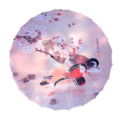 Amazon.com: Sombrilla hecha a mano estilo chino japonés de ...