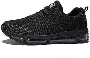 TORISKY Unisex Sportschuhe Laufschuhe Sneakers Turnschuhe Fitness Mesh Air Leichte Schuhe Rot Schwarz Weiß