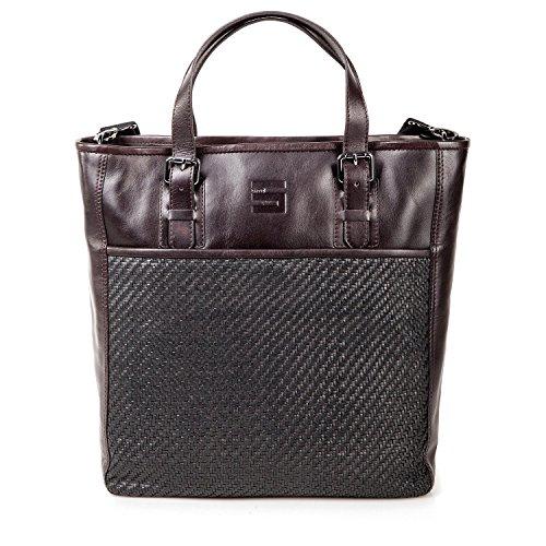 Cinque tasca shopper bag mercato in pelle marrone