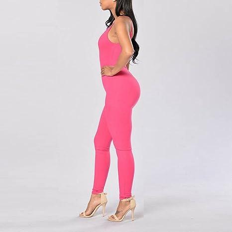 XUEYAN Pantalones de Yoga sin Mangas Sling Yoga Jumpsuit ...