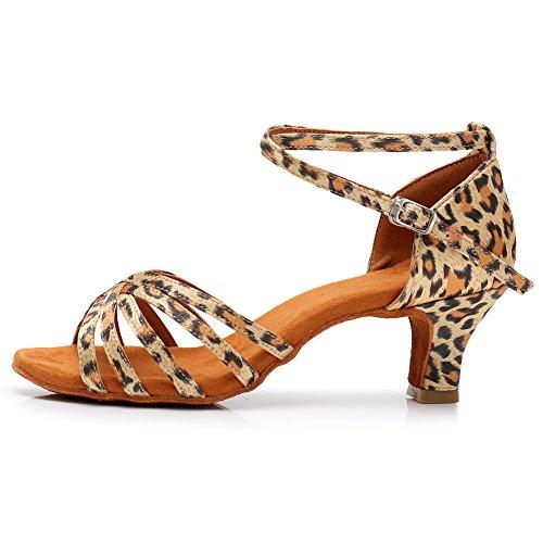 Boca Zapatos Noche De Hebilla Tobillo Vestido Bajo Leopardprintdanceshoes Pescado Baile Interior Xiaoy Mujer Latino Tacón nqzwO5pExY