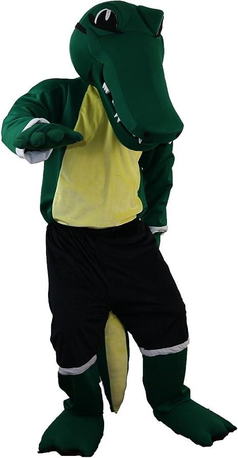 Langteng Disfraz de cocodrilo verde para artes marciales de 15 ...