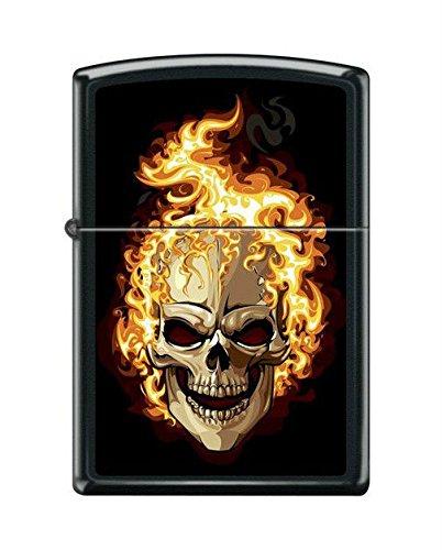 Skull Black Matte Lighter - Zippo