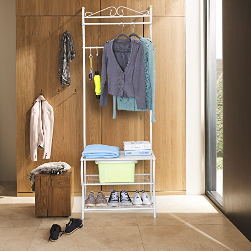 Perfect Free Coat And Boot Rack Image: ★Lowest Price★LANGRIA Entryway Metal Coat Rack Standing