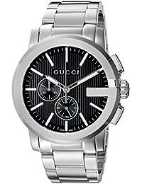6e1656334d4 Analog Display Swiss Quartz Silver Men s Watch(Model YA101204) · Gucci