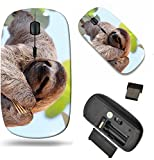 MSD Wireless Mouse Travel 2.4G Wireless Mice with USB Receiver, Noiseless and Silent Click with 1000 DPI for Notebook, pc, Laptop, Computer, mac Book Design 35577251 Happy Sloth